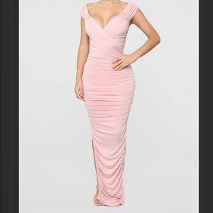 Fashion Nova- Call Me Elastic Ruched Maxi Dress